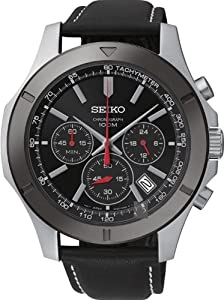 Seiko SSB111P2 Chronograph Dark Dial Stainless Steel Case Men's Watch.