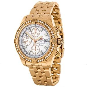 Breitling Evolution 18k Rose Gold Factory Diamond Automatic Mens Watch