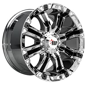 "RBP 94R Chrome Wheel with Black Insert and Chrome Finish (17x9.0""/6x139.7mm)"