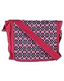 Needlecrest Women's Canvas Sling Bag (Pink & White)