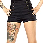 Lip Service Herringbone High Waisted Vintage Steampunk Goth Shorts