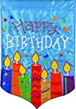 Carson Home Accents FlagTrends Double Applique Garden Flag, Birthday Candles