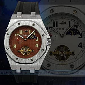 Cool Automatic Mechanical Tourbillon Tachymeter Military Army Men Sport Watch
