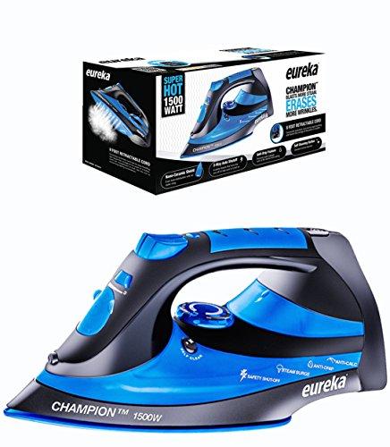 Eureka Champion Super Hot 1500 Watt Iron Powerful Steam Surge Technology, Blue (Eureka Glide compare prices)
