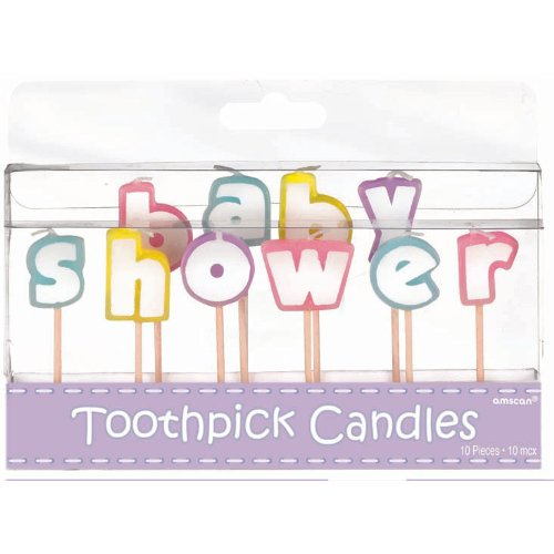 "Amscan Colorful Baby Shower Letter Candles, Multicolored, 3"" - 1"