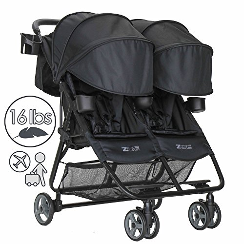 Read About ZOE XL2 DELUXE Double Xtra Lightweight Twin Travel & Everyday Umbrella Stroller System (B...