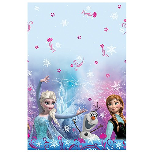 "Disney Frozen Plastic Tablecloth, 84"" x 54"" - 1"