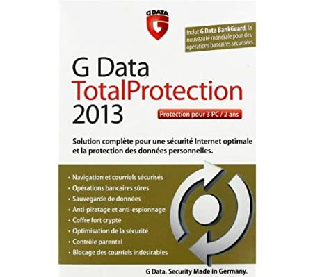 G Data total protection 2013 (3 postes, 2 ans)