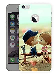 "Humor Gang Cute Couple Kissing Cartoon Printed Designer Mobile Back Cover For ""Apple Iphone 6 - 6s"" (3D, Matte, Premium Quality Snap On Case)"