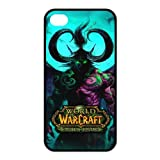 World of Warcraft Games Series The Burning Crusade Personalized Water Proof Iphone 4/4S Black Silicone Case