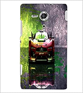 PrintDhaba Car D-4847 Back Case Cover for SONY XPERIA SP (Multi-Coloured)