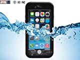 Iphone 6 Plus Waterproof Cell Phone Protective 5.5 Case,Nancy's shop Touch ID Ip 68 Underwater Waterproof Dirtproof Snowproof [Kick-stand] Armor Case Cover for Iphone 6 Plus 5.5 (At&t, Verizon Wireless, Virgin & Sprint)buy Now to Protect & Defend Your Iphone 6 Plus 5.5 with a Free Screen Protector (Black  iPhone 6 Plus Nancy's shop Waterproof Case Cover)