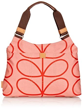 Orla Kiely 14SELIN024 Linear Stem Classic Shoulder Bag,Marhsmallow,One Size