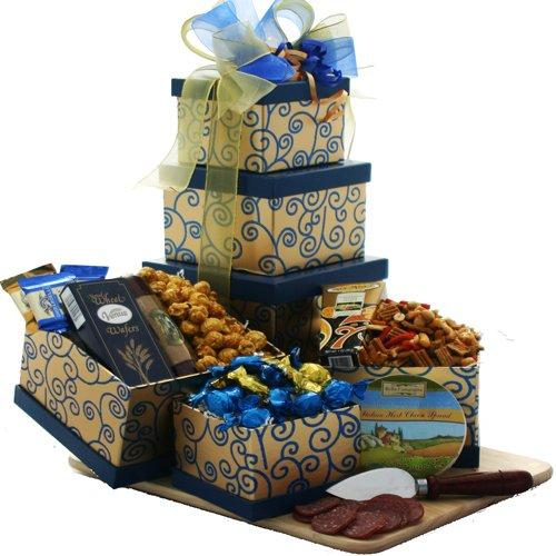 Art of Appreciation Gift Baskets  Crowd Pleaser Gourmet Food and Snacks Gift Tower