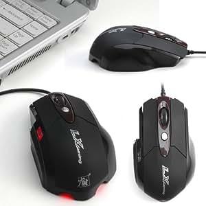 LX Optisch Maus USB 6 Tasten Scrollrad für Gaming Gamer PC Videospiel 2400dpi Notebook Laptop PC Mouse WIN7 WIN8