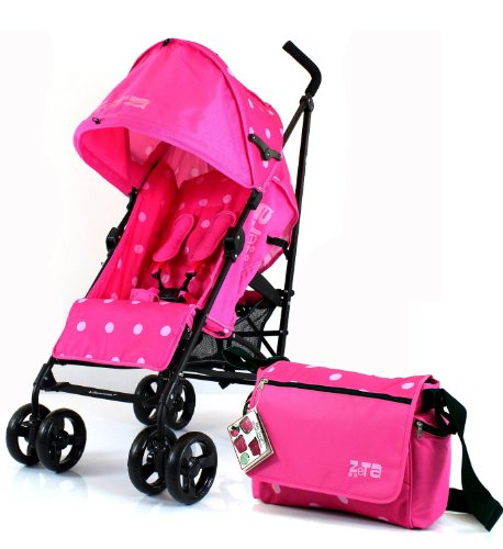 new-zeta-vooom-raspberry-dots-changing-bag-includes-changing-mat-buggy-stroller-pushchair-with-large
