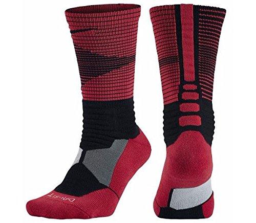 Nike Hyperelite Distruttore Bask-Calze unisex MULTICOLORE Negro / Rojo (BLACK/UNIVERSITY RED/(BLACK)) L