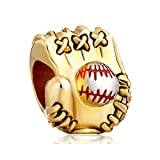 New Sale Cheap Baseball Mitten Love Sports Charm Beads Fit Pandora Jewelry Charms Bracelet Gifts