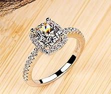 buy 18K White Gold Gp Austria Swarovski Crystal Lady Bridal Marriage Ring Jewelry Gift R24A (7)