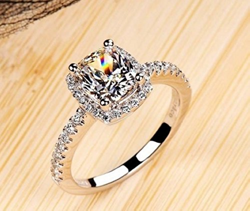 18k White Gold Gp Austria Swarovski Crystal Lady Bridal Marriage Ring Jewelry Gift R24a (7)