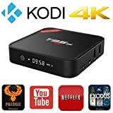 Rominetak T95M Android 6.0 Marshmallow OS TV Box Quad Core 1GB DDR3 RAM 8GB Flash 4K UHD 3D HDMI Kodi 16.1 Fully Loaded Rooted Unlocked Amlogic S905X Miracast Google Streaming Media Player WiFi DLNA