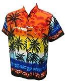 La Leela Beach Hawaiian Printed Shirt For Men L