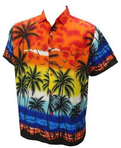 La Leela Beach Hawaiian Printed Shirt For Men M