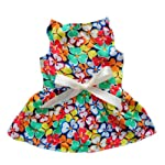 Fashion Floral Sundress for Dog Cozy Adorable Dog Dress Dog Clothes,Pattern 5,XS