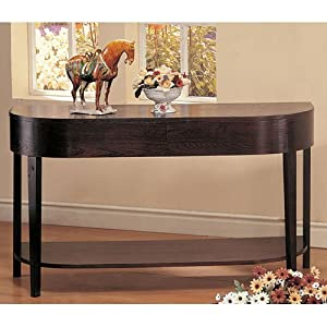 Amazoncom curved design cappuccino sofa table home for Curved sofa table for sectional