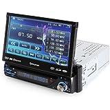 Auna MVD-220 - Autoradio multimedia avec ecran retractable 18cm, Bluetooth, lecteur DVD, port USB et slot SD (fonction kit mains-libres, tuner FM/AM, telecommande)