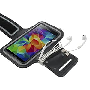iProtect Sportarmband Samsung Galaxy S5 Running Case Laufarmband schwarz