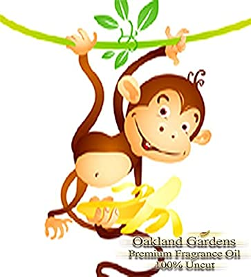 MONKEY FARTS Fragrance Oil - A unique blend of bananas, fresh grapefruit, with strawberries, kiwi, bubble gum and a touch of vanilla. A favorite for children's soap - By Oakland Gardens