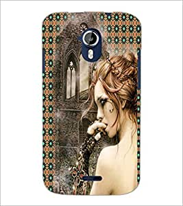 PrintDhaba Crying Girl D-3082 Back Case Cover for MICROMAX A116 CANVAS HD (Multi-Coloured)