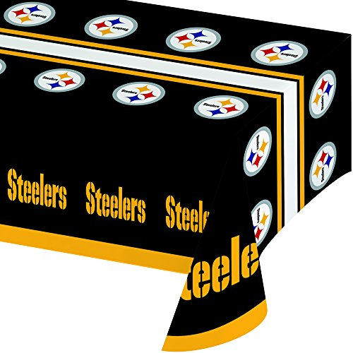 Creative Converting All Over Print Pittsburgh Steelers Plastic Banquet Table Cover from SteelerMania