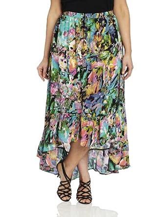 Tolani Women's Plus-Size Sydney Skirt, Blossom, 2X