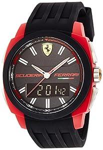 Ferrari Herren-Armbanduhr XL Aerodinamico Analog - Digital Quarz Silikon 830121