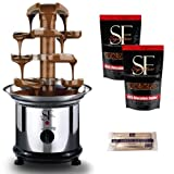 """Sweet Fountains 16"""" Deluge Home Stainless Steel Chocolate Fountain Party Pack"""