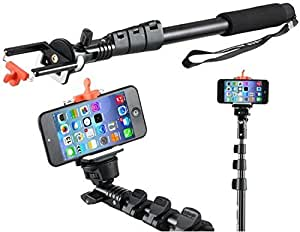 Totu Premium Series Selfie Stick YT-1288 Self-portrait Monopod Extendable for All size phones, Go pro cameras,DSLR Cameras and Cellphones, and Bluetooth Camera Remote for iPhone 6,6 Plus 6+ 5 5S 5C 4S, Samsung Galaxy S6 and Galaxy S6 Edge,and Other Smartphones High Quality build for High quality images
