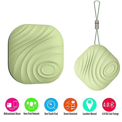Mini Bluetooth GPS Tracker, Key Finder, Nut Find 3 Anti-lost Smart Tag, Phone Wallet Bag Pet Dog Locator with App Control Bi-directional Tracking Alarm for iOS/ iPhone/ iPod/ iPad/ Android (Green) (Iphone Gps App compare prices)