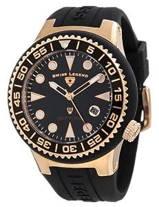 Swiss Legend Men's 21848D-RG-01-NB Neptune Black Dial Black Silicone Watch