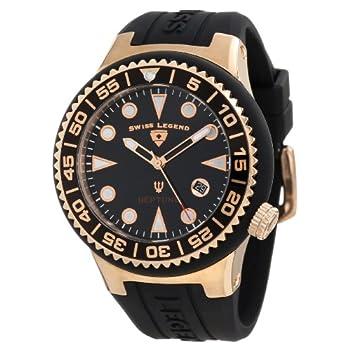 7ab9216de80 Swiss Legend Men s 21848D-RG-01-NB Neptune Black Dial Black Silicone Watch
