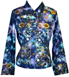 Entice Coin Embellished Cloud Ombre Jean Jacket