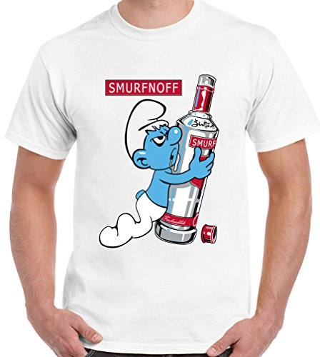 T-Shirt Junky discount duty free Vodka Drinking - Mens Funny T-Shirt NWX3 - White, X-Large