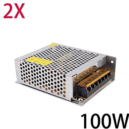 2X Himanjie® 100W Trafo zu DC 12V 8.3A LED Schalter Transformator Netzteil für LED-Streifen Schaltnetzteil