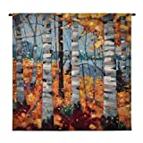 Fine Art Tapestries 6868-WH Border View Small Wall Tapestry
