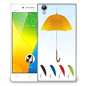 Snoogg umbrellas vector f Designer Protective Back Case Cover For VIVO Y51 L
