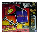 Tech Deck Skate Park (Quarter Pipe and Grind Rail), World Industries Graphics with Bonus 96mm Fingerboard