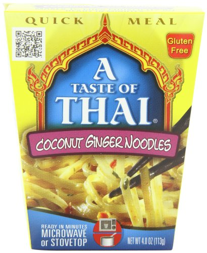 A Taste of Thai Coconut Ginger Noodles Quick Meal, 4-Ounce Boxes (Pack of 6) (Microwavable Pad Thai compare prices)