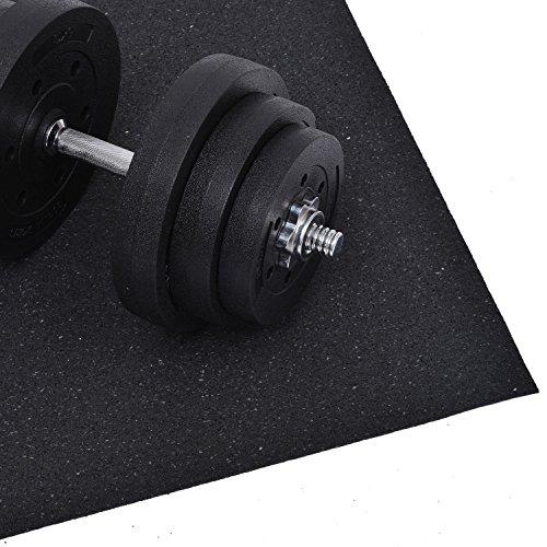 Outsunny - Tappetino protettivo salvapavimenti per attrezzature sportive fitness protezione pavimento 220 x 110 cm