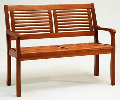 Gartenbank Eukalyptus 2 Sitzer Holzbank von Diverse - Gartenmöbel von Du und Dein Garten